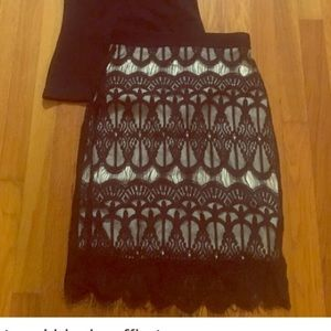 Black lace skirt size small